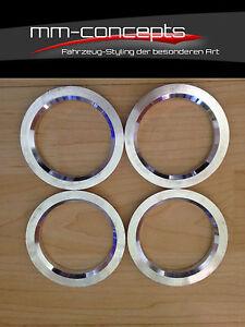4 Aluminium Zentrierringe 73,1 -  auf 57,1 Reduzierringe Audi VW Skoda Seat Alu