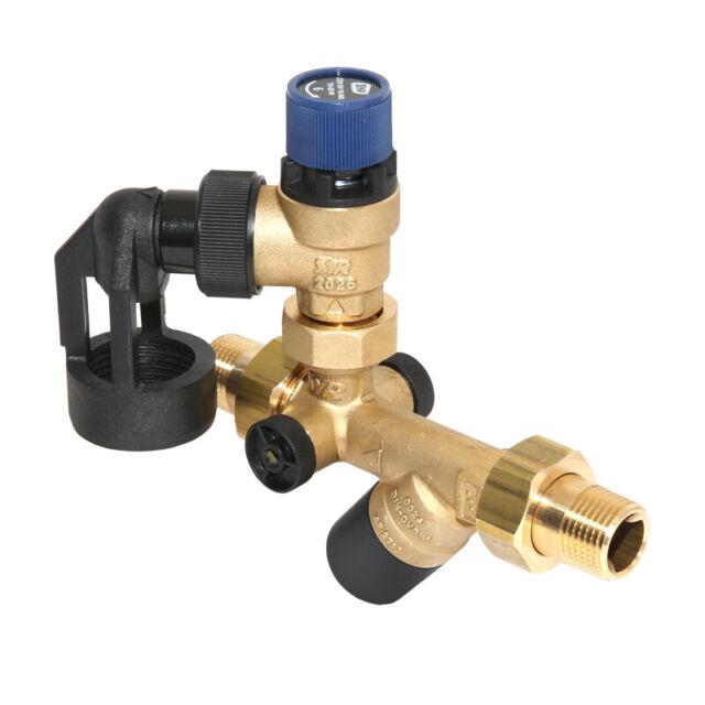 """Syr Trinkwasser Sicherheitsgruppe Syrobloc 24 3//4/"""" 6 oder 10 bar mit Manometer"""