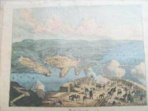 74-Lithographie-SEBASTOPOL-Sewastopol-altkolorierte-1857-20x17cm