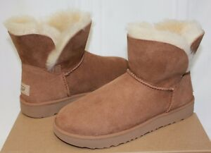 5e07f355366 Details about UGG Women's Classic Cuff Mini Chestnut Suede boots New With  Box!