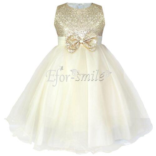Flower Girl Dress Birthday Wedding Bridesmaid Formal Pageant Recital Graduation