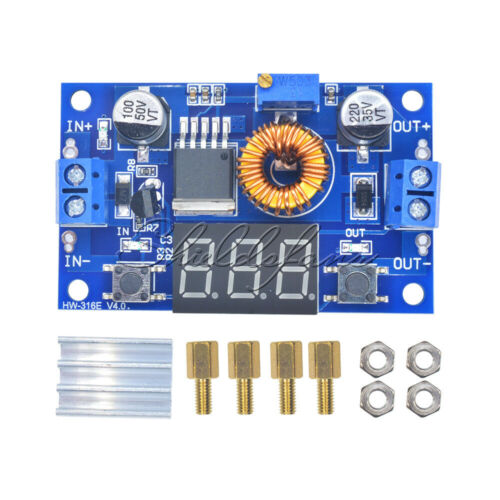 5A CC CV LED Drive Lithium Charger Power Step-down With Voltmeter Ammeter Module