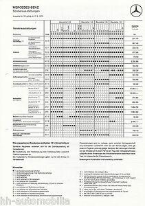 Mercedes-Sonderausstattungen-Preisliste-13-9-79-Auto-1979-R-107-SL-W-116-126-123