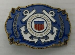 United-States-Coast-Guard-1790-Belt-Buckle-1999-Made-in-USA-New