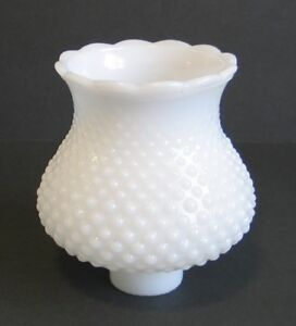 Vintage-Hurricane-Lamp-Shade-White-Milk-Glass-Hobnail-Scalloped-Ceiling-Fixture