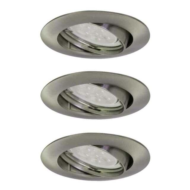 400 lm EEK: A+ Briloner LED Deckenleuchte matt-nickel Deckenstrahler 5W