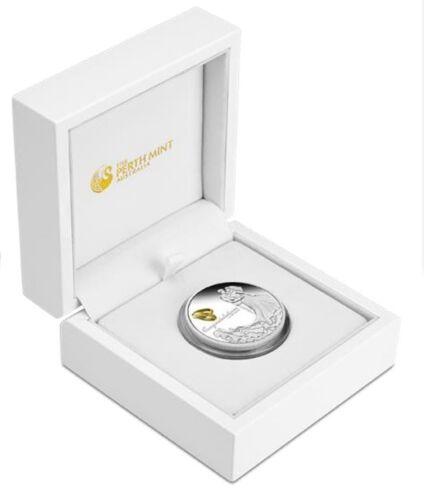 Australia 2017 WEDDING 1 OZ SILVER proof COIN w// Crystal Embellishment Box GIFT