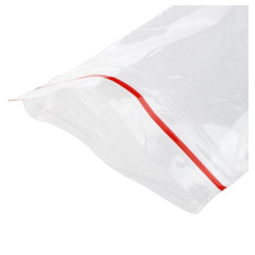 500x Clear Grip Self Press Seal Polythene Zip Lock Plastic Jewelry Bag
