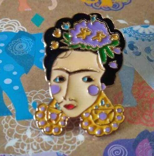 Feminist Artist Frida Kahlo Enamel Pin Badge