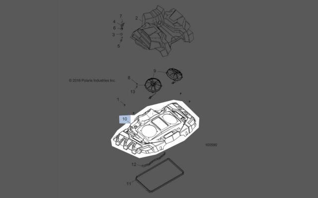 Polaris 2017 Sportsman Shroud Radiator Cntr Tpo V Blu 5454197-689 New Oem