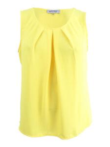 Kasper-Women-039-s-Plus-Size-Pleated-Shell-Top