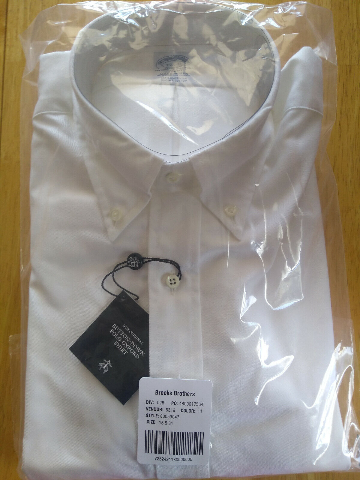 Lot of 2 NWT Brooks Brothers Weiß Supima Button Down 14.5-31 Regent MSRP  280