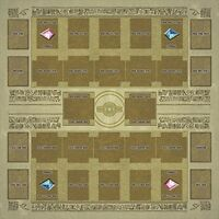Yu-gi-oh Card Rubber Play Mat Egypt Mural Style Type (for Competition) 60 × 60