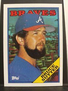 1988 Topps #155 Bruce Sutter Atlanta Braves Baseball Card
