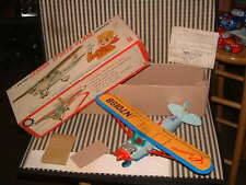 BANDAI NOS BATTERY OPERATED, TIN & PLASTIC CESSNA PLANE W/ORIGINAL BOX, PERFECT!