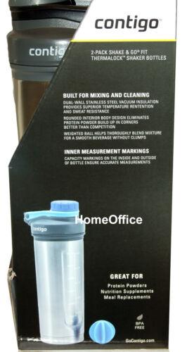 Shake /& Go Shaker  Drinks Bottles Insulated Contigo 2 Pack