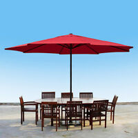13' Ft Feet Steel Outdoor Patio Umbrella Deck Gazebo Sun Shade Red on sale