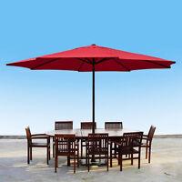 13' Ft Feet Steel Outdoor Patio Umbrella Deck Gazebo Sun Shade Red on sale