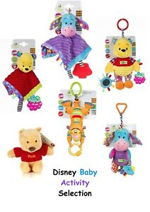 Image is loading Winnie-the-Pooh-Baby-Activity-Toy-Comforter-Rattle- 361ea8da552f