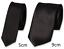 Plain Satin Black Tie Workwear Security Doorman Bouncer Funeral UK