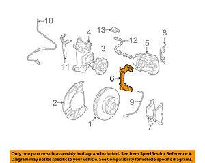 bmw oem 04 07 525i disc brake caliper bracket 34116753661 ebay rh ebay com 2006 BMW 525I Interior 2007 BMW 328I