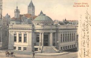 Carnegie-Library-San-Bernardino-California-1906-Hand-Colored-Vintage-Postcard