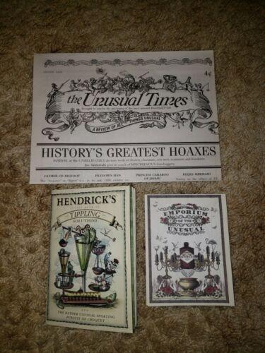 Rare Hendricks Gin Tippling Solutions Newsletter Emporium of Unusual Booklet
