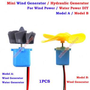 Mini Wind Turbines Generator Hydraulic Wasser Generator Teaching DIY Kit Test