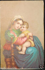OLD BLESSED VIRGIN MARY AND CHILD JESUS HOLY CARD ANDACHTSBILD SANTINI C749