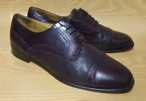 199e7ac557f0d Alfani Made in Italy Brogue Oxfords Cap Toe 11.5 M Burgundy Leather ...