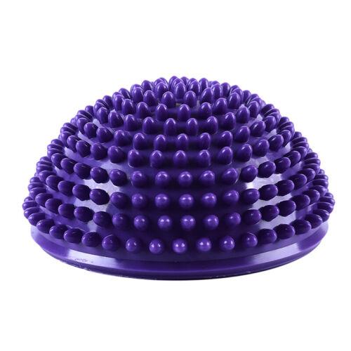 Half Sphere Inflatable Balls Yoga PVC Massage Trainer Fit Exercise Balance 8C