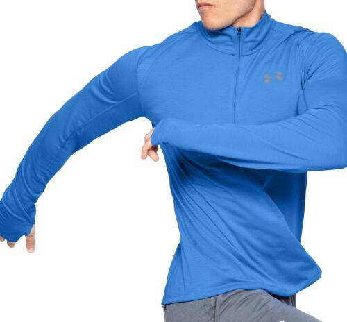 Blue Under Armour Streaker 2.0 Half Zip Long Sleeve Mens Running Top