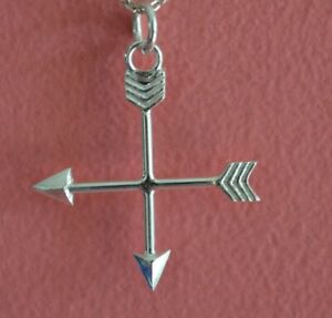 925-Sterling-Silver-Arrow-Charm-Cupid-Archery-Arrow-Pendant-ONLY