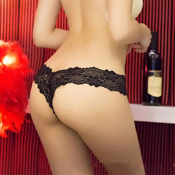 6er Pack Damen Sexy Spitze Tanga String Schlüpfer Unterhose Höschen Unterwäsche