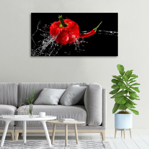 Glas-Bild Wandbilder Druck auf Glas 100x50 Deko Essen /& Getränke Roter Paprika