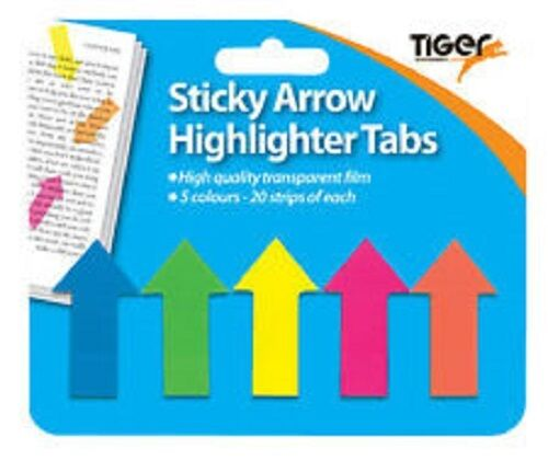 STICKY NOTE ARROW SHAPE HIGHLIGHTER REPOSITIONABLE INDEX TABS FLAGS FOR REVISION