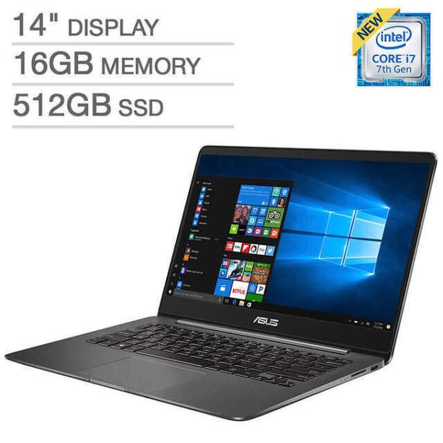 "ASUS ZenBook UX430UQ 14"" Laptop Notebook PC 512GB SSD  i7 NVIDIA 1080p 16GB NEW"