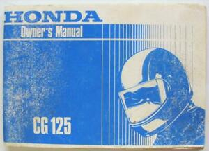 Honda-CG125-post-1985-MPKY0911UK-Motorcycle-Owners-Handbook-Multilingual