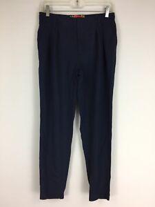 Cartonnier-Anthropologie-Womens-Sz-XS-Dark-Blue-Tapered-Leg-Soft-Pants-B1