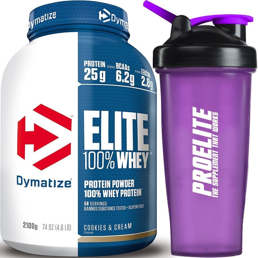 Dymatize Elite 100% proteína de suero 2.27kg/2700g/2.3kg Kg - Todos los sabores