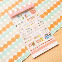 6X Nette Wort-Expression Tagebuch Album Aufkleber Kalender-Karte Scrapbooking
