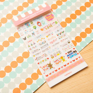 6pcs-Nette-Wort-Expression-Tagebuch-Album-Aufkleber-Kalender-Karte-Scrapbooking