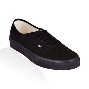 Vans-Authentic-Classic-Skate-Unisex-Shoes-Black-Black