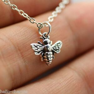 charm is bee bumblebee silver pendant image honey necklace s sterling queen loading new tiny itm