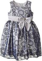 Girls 7 8 Jayne Copeland Sequin Flocked Circle Organza Holiday Party Dress