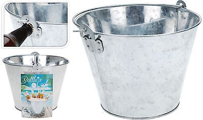 Traditional Zinc Bucket Ice Bucket Wine Cooler Champagne Cooler Bottle Opener