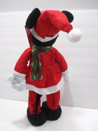 "Disney Minnie Mouse Christmas Decoration Standing Doll 22/"" Tall New"