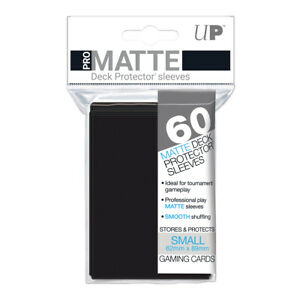 Ultra-Pro-Deck-Protector-Small-Matte-60-Card-Sleeves-BLACK-YuGiOh-Vanguard