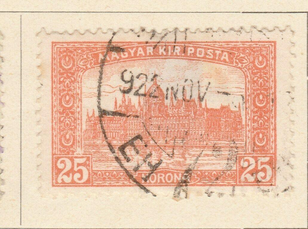 A6P8F42 Ungarn Hongrie Hungría Hungary 1920-24 25k used