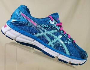 Asics T5b9n Womens Gel Excite 3 Running Shoes Turquoise Pink Size 7 5 Ret 120 Ebay